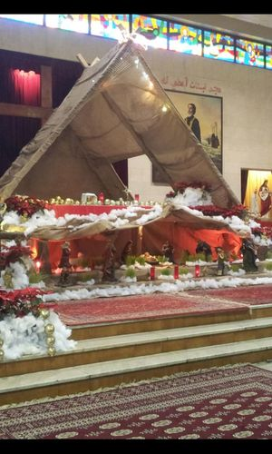 Christmas Church DecorationChrist Grotto In The Church Merry Christmas! ♡