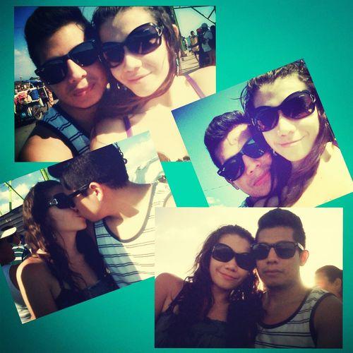 vacaciones juntos! Disfrutando De Sol!!! My Babe And Me Juntos! Chris & Clelian ?⛅?????❤
