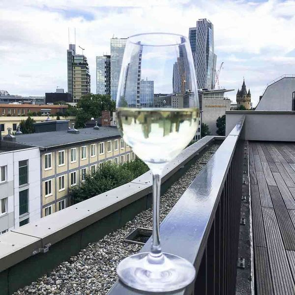 Wineglass Skyscraper City Architecture Alcohol Sky Cloud - Sky Drink Cityscape Outdoors Wine Food And Drink City Life No People Urban Skyline Building Exterior The Week On EyeEm