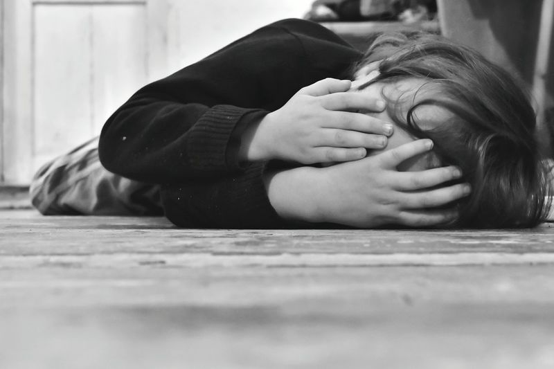 Lying Down Eyes Closed  Indoors  One Person Human Hand Kid Boy Sad Sadness Crying Child Dissapointed Helpless Kid Lonely Unhappy Depressed The Week On EyeEm