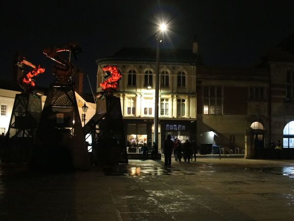 art light and sound art installation in hull Art Installation Hull Hull City Of Culture 2017 Hull2017 Where Do We Go From Here? Art Hull 2017 Jason Bruges Studio Night Robotic Arm Robotic Arms