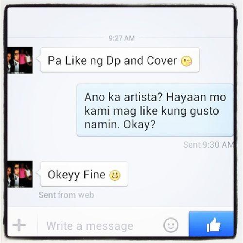 Pa like daw ang bayawak. Ganyan ka ba kapanget at walang nag lilike ng cover at dp mo? How cheap. Bayawak Inday Salot Epal