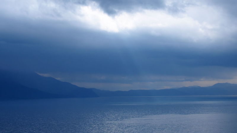 Beauty In Nature Distant Horizon Over Water Lake View Nature No People Ohrid Macedonia Ohridlake Outdoors Sky Sky And Clouds Tranquil Scene