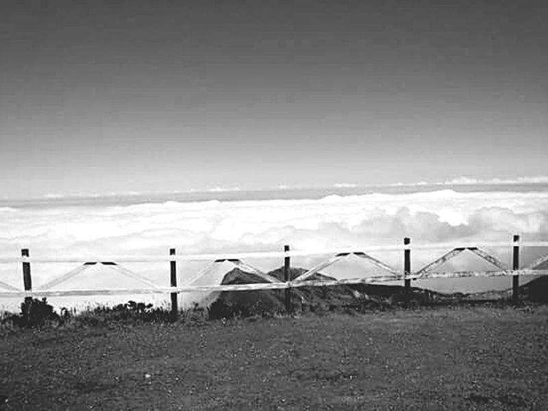 Above the sky Sky Clouds Blackandwhite View Volcano