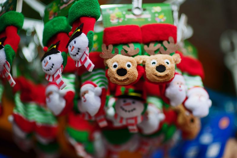 festive Christmas decorations Representation Celebration Christmas No People Creativity Indoors  Holiday Stuffed Toy Art And Craft Food And Drink Human Representation Temptation Multi Colored Food Baked Close-up Still Life Toy Sweet Food