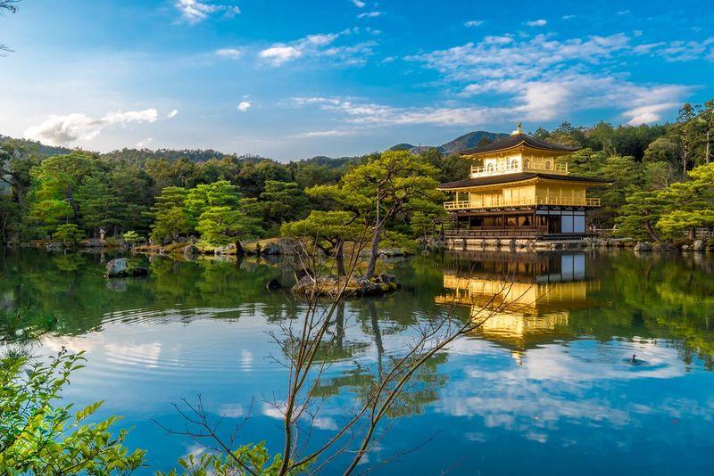 Golden Pavilion Kyoto Japan Golden Hour Kinkakuji Golden Pavilion  Japan Photography Japan Photos Japan Scenery