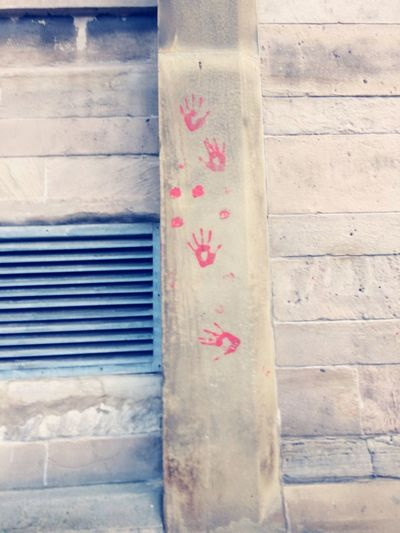 Building Exterior Scouse handprints Stickyfingers Liverpool
