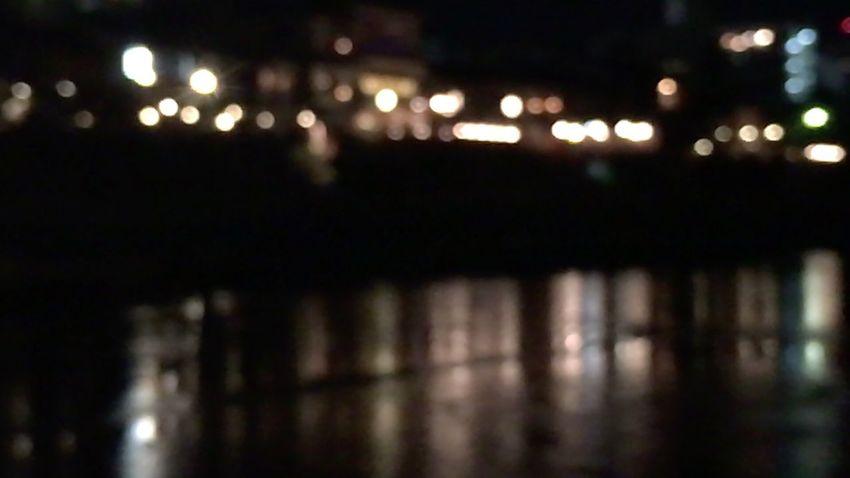 Kyoto City Night Night Lights Night River Kyoto,japan