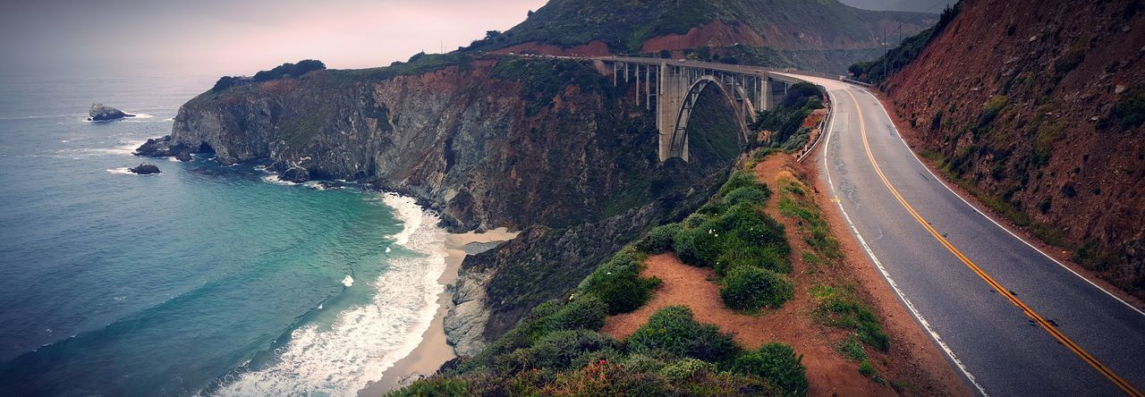 The long and winding road.. Big Sur, Ca Us 1 PCH Pacific Coast Highway 1 Bixby Bridge Bridge - Man Made Structure White Wall California Coast EyeEm Best Shots EyeEm EyeEm Gallery Eyeemphotography