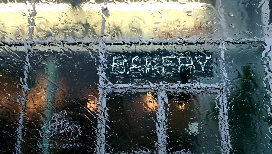 Mondaze Rainy Day Bakery Rain Rainy Rainy Windshield Rainy Window Coffee And Donut Cold