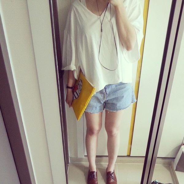 동네마실에서 합정마실로 급변경 Today TodaysLook Sunny Summerday 컨셉은 동네백수