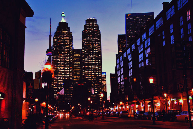 Shot By Sean Diamond Architecture Building Exterior Built Structure City Cityscape Illuminated Low Angle View Modern Night No People Outdoors Sky Skyscraper Travel Destinations