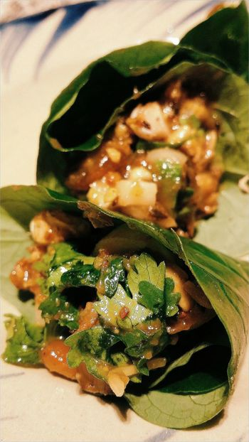 Maung Prawn wrapped in Betel Leaf Thai Food Foodphotography Asian Food Long Chim Singapore