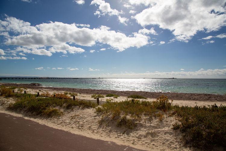 the longest jetty in Australia (2km) Sea Water Sky Beach Land Cloud - Sky Horizon Horizon Over Water Beauty In Nature Scenics - Nature Tranquility Nature Tranquil Scene Sand No People Travel Outdoors Day Idyllic Jetty Western Australia