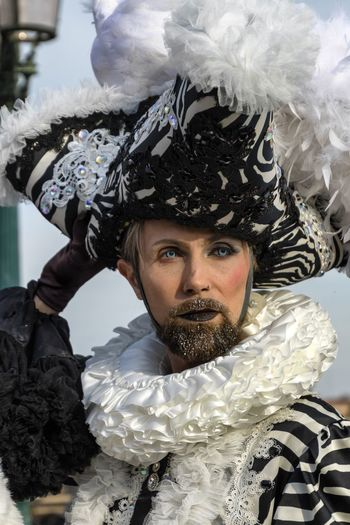 Carnival in Venice 2017 Carnaval De Venise Carnival Carnival Time Carnival In Venice Fun Holiday Lifestyle Amusement  Arts Culture And Entertainment Carnaval Celebration Close-up Costume Costumes Day Front View Headdress Headshot Leisure Activity Lifestyles Looking At Camera One Person Outdoors Portrait Real People