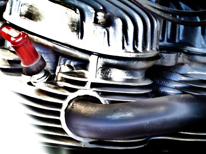 Art Photography Arty Pic. Close-up Detail Edit Fins Fins. Grey. Colour Grey. Colour. Metallic Motorcycle Engine Engineering Pipes Brand No People Pipe Screws