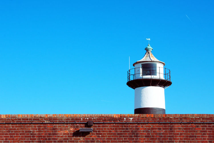 View of Southsea lighthouse, Portsmouth Architecture Castle Lighthouse Portsmouth Wall Blue Sky Landscape No People Southsea