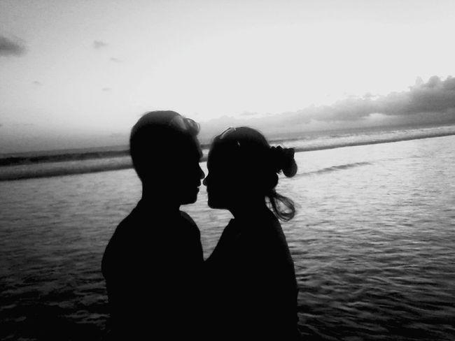 We love each other 🙈🙈🙈 Pangandaran Beach Sunset Tasikmalaya Exploretasikmalaya 😍😚