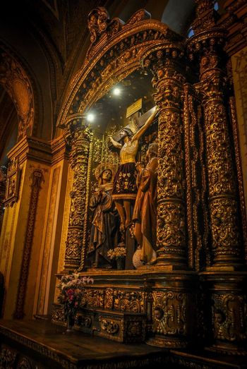 Architecture Built Structure Day Human Representation Illuminated Indoors  Low Angle View Male Likeness No People Place Of Worship Religion Sculpture Spirituality Statue Travel Destinations