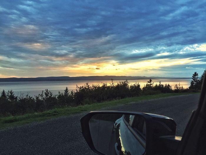 Car Sunset Nature Nationalpark Canada Quebec