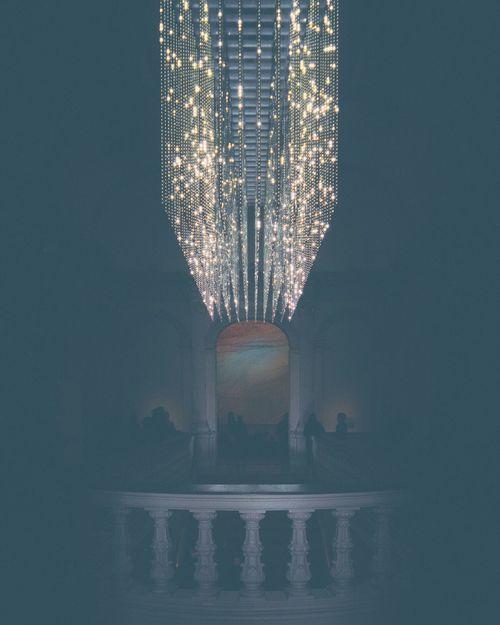 Volume (Renwick), by Leo Villareal, at the WONDER exhibit. Sculpture Washington, D. C. Renwick Gallery