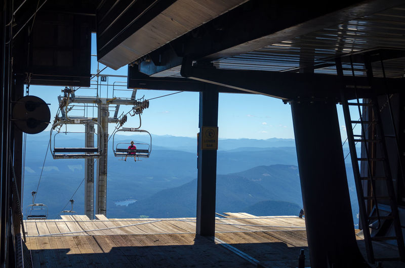 Chairlift leaving the terminal in the summer on Mount Hood Cable Cascade Chairlift Forest Hills Landmark Landscape Lift Magic Mount Hood Mountain MtHood Nature Northwest Oregon Outdoors Pacific Range Rocks Skilift Summer Timberline Trees View Wilderness