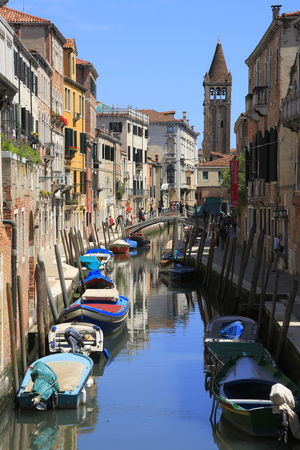 Adapted To The City Venezia Venice Italy Venice Canals Venice View Venice Gondola Travel Destinations City Canal Gondola - Traditional Boat Building Exterior Multi Colored Outdoors Architecture Nautical Vessel Vacations Gondolier People Water Day Pedestrian Bridge Travel ıtaly Venice Street Photography