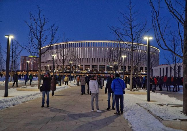 City Clear Sky Outdoors People Architecture Illuminated Large Group Of People Tree Krasnodar Stadium The City Light