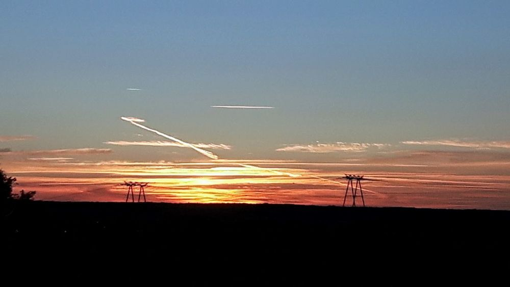Sunset Yesterday's Sunset Sunset_collection Electricity Pylon Silhouettes Eye4photography  The Week On EyeEm