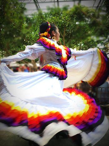 Multi Colored Tradition Culture Mexican Art MexicanTradition Mexico Dancer Dancing Woman Traditional Clothing Traditional Culture Traditional Costume