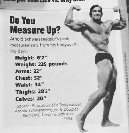 Do you measure up ? Arnoldschwarzenegger Bigboy Bigbench Biceps Legs Waist