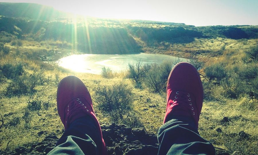 Adventure Sunlight Nature Shoes Shoeselfie Redshoes Pond Frozen Pond Beautiful Morning Love Photography SimplePic Funpics Nature Photography Nature Lover Naturepics Quickpic Creativity Has No Limits