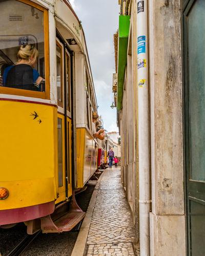 Lisbon Lisbon - Portugal Architecture Streetphotography Street Photography Streetart Tram Lisbon Tram Cityscape EyeEm Best Shots EyeEmNewHere River View Lisbon River Blue Sky