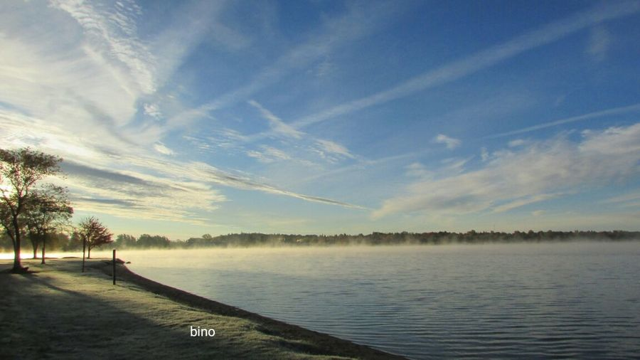 Very Cold Morning Around The Lake Cloud - Sky Frost And Fog Dramatic Sky Horizon Over Water Fog Rising Lake Cadillac Pure Michigan