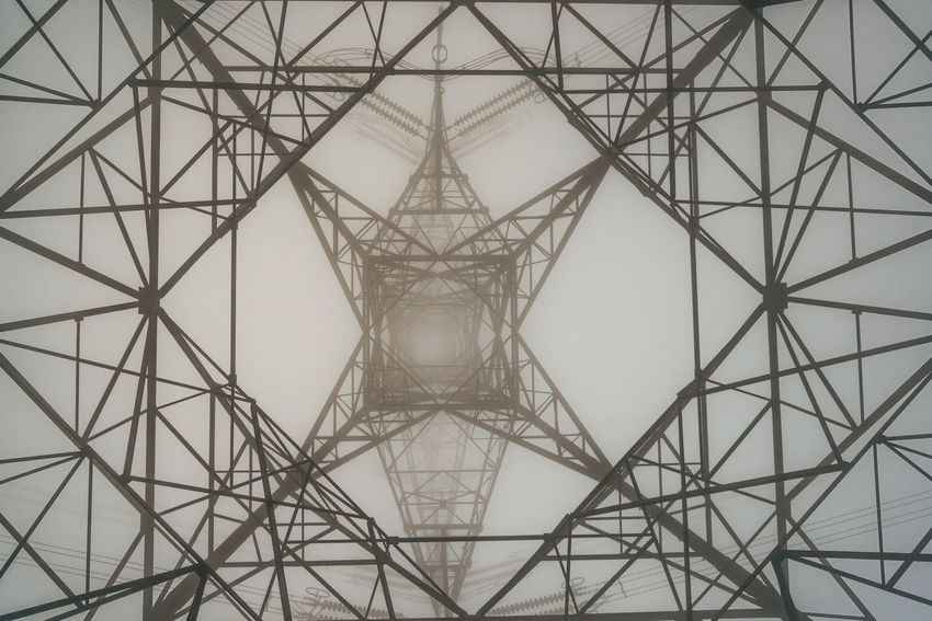 Hong Kong Backgrounds Connection Day Electricity Pylon Full Frame Girder Grid Metal No People Outdoors Pattern Steel Symmetry