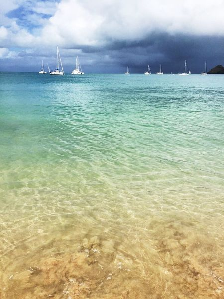 Sea Water Sky Nautical Vessel Nature Scenics Transportation Tranquility Mode Of Transport Beauty In Nature Outdoors Horizon Over Water Day Tranquil Scene No People Cloud - Sky Beach Sailing