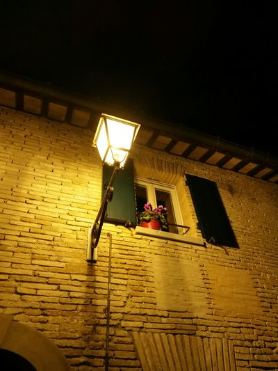 Architecture Low Angle View Built Structure Illuminated Building Exterior Night Christmas Time SantarcangeloDiRomagna No People Italy Holidays