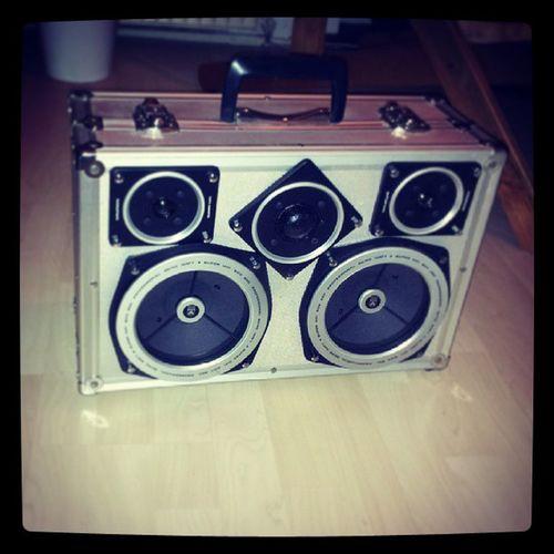 Krachkoffer 80ties Alu Boombox suitcase speaker stereo diy
