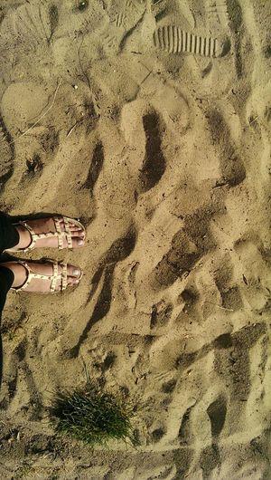 SAND First Eyeem Photo Beach Summertime Summer Sand Sandals Nails Poland Summer ☀