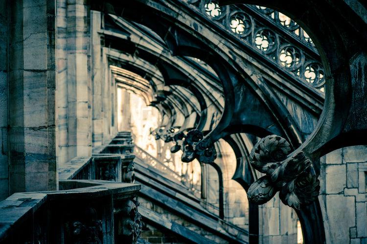 Metallic structure of historic building