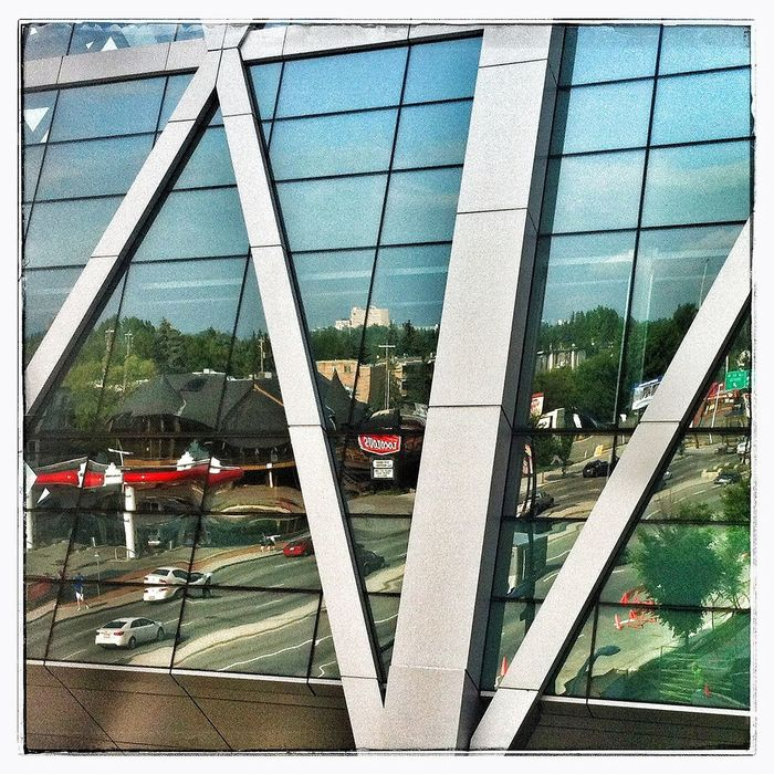 Reflection of 16th Ave. YYC IPhoneography Photography Reflection
