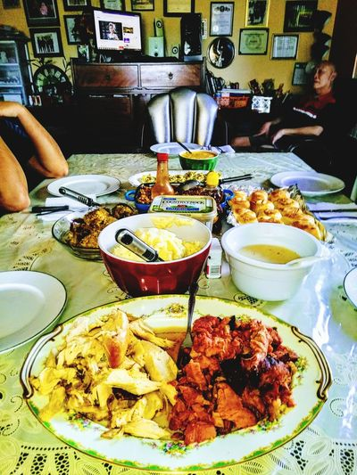 Holiday Dinner with my family 💜💜 Thanksgiving Dinner 2017 Be. Ready. Food And Drink Food Indoors  Freshness Plate Ready-to-eat Serving Size Gourmet Meal Indulgence Temptation Table Sweet Food Day Cooked Appetizer No People Close-up Healthy Eating
