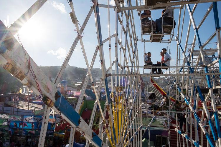 Burma Ferris Wheel Festival Metal Myanmar Myanmarphotos Pindaya Sun Tazaundaing