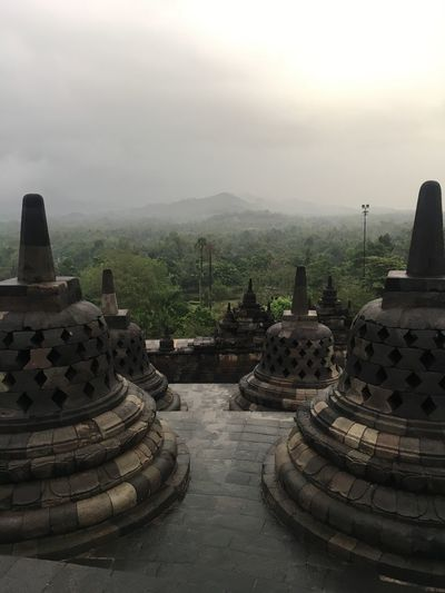 INDONESIA Borobudur History Spirituality Place Of Worship Travel Destinations Architecture Fog Religion Ancient Civilization Ancient Tranquility Nature Sky No People Outdoors Built Structure Day Scenics Mountain Beauty In Nature Building Exterior