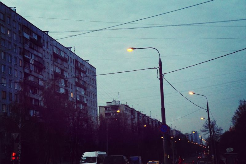 Street Lights Moscow Street Photography