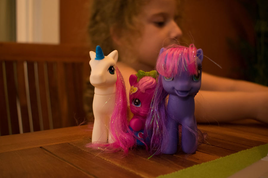 Happiness Pony Girl Indoors  Litle Girl My History Playing Toy