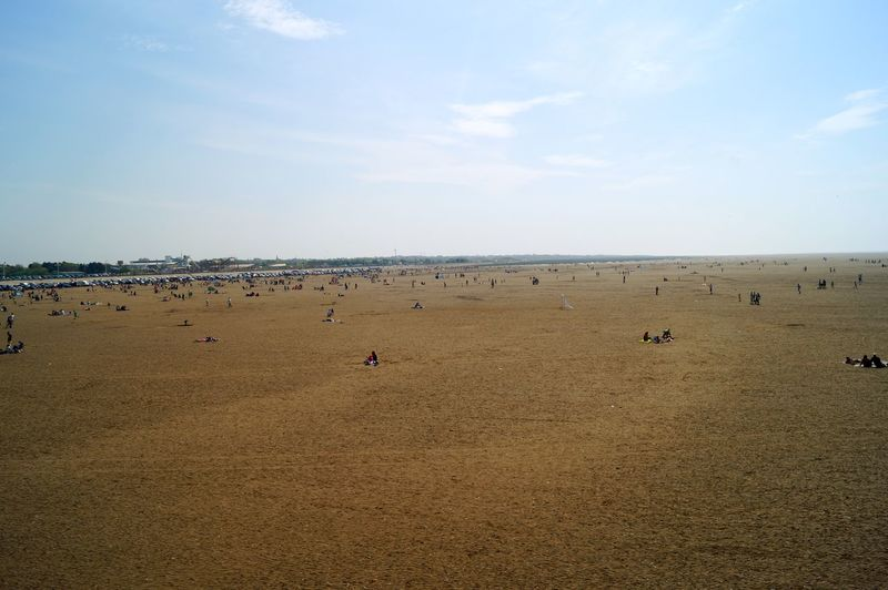 English Beach Southport Beach Beauty In Nature Cloud - Sky Crowd Day Dirty Sand Environment Field Group Of People Horizon Land Landscape Large Group Of People Nature Outdoors Real People Sand Scenics - Nature Sky Tranquil Scene Tranquility Uk