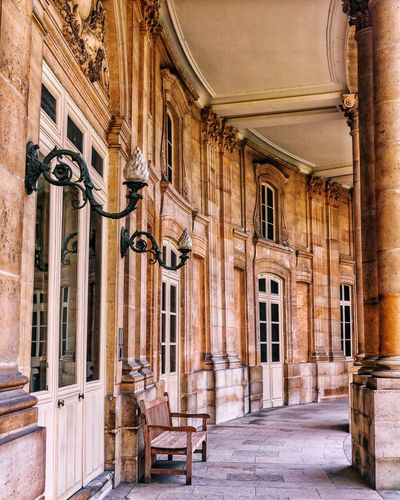 EyeEm Selects Architecture Built Structure Building Building Exterior History Architectural Column The Past No People Old Day Window Arcade Bad Condition Corridor Seat Wall Abandoned Outdoors Arch Ceiling