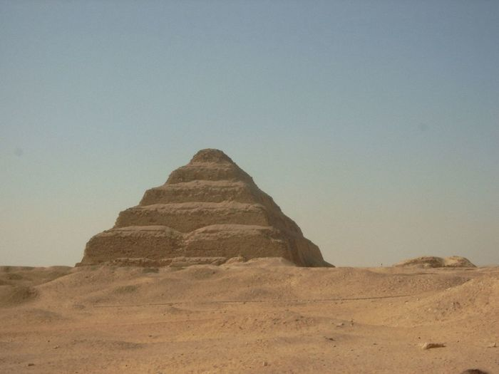 Step Pyramid near Gizah Ancient Ancient Culture Ancient Egypt Ancient History Ancient Architecture Ancient Building Ancient Civilization Ancient Ruins Ancient Temple Ancient Town Clear Sky Day Desert Landscape Nature No People Outdoors Sky Step Pyramid Stepped Pyramid Tranquility