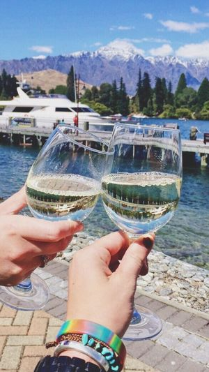 Wine Not Alcohol Drink Human Hand Food And Drink Wine Wineglass Celebratory Toast Holding Drinking Glass Refreshment Outdoors Day Drinking Lifestyles